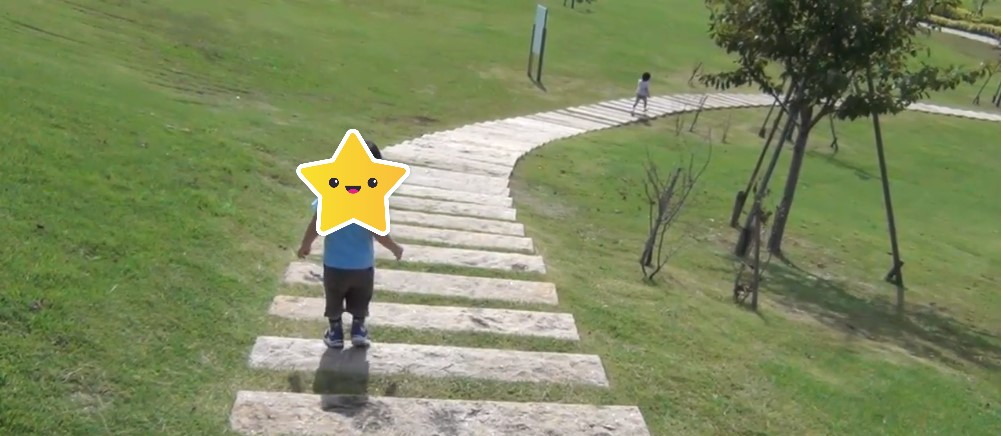 大和ゆとりの森公園の階段