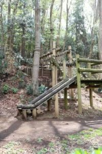 藤沢市少年の森のアスレチック
