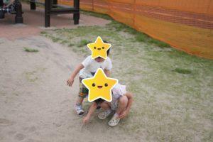 辻堂海浜公園の砂場遊び