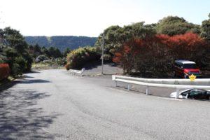 姫の沢公園の峠の駐車場