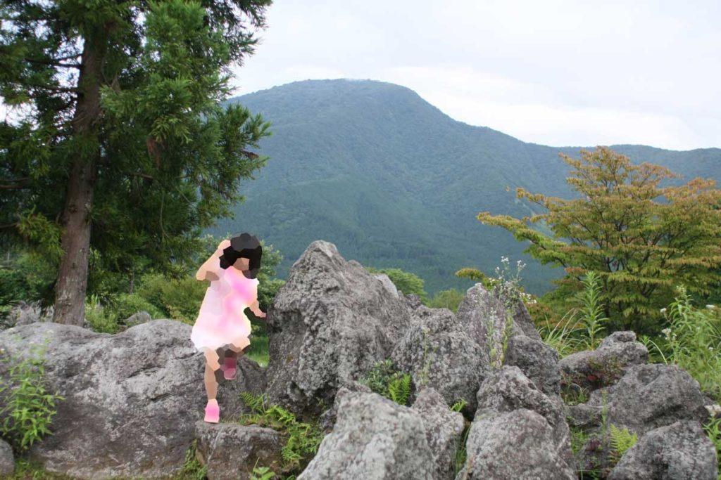溶岩の遊具