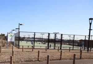 大和ゆとりの森公園のテニスコート