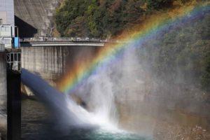 宮ヶ瀬ダムの虹
