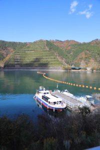 宮ヶ瀬ダムの遊覧船