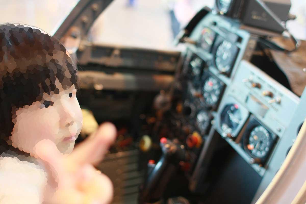 飛行機の操縦室
