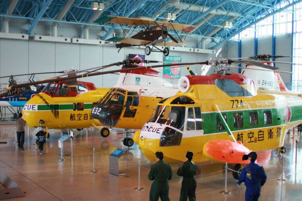 エアパークのヘリコプター展示