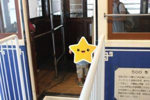 横浜市電保存館の展示