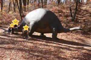 アルプス公園の恐竜の遊具
