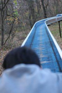 アルプス公園の長いすべり台