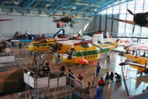 エアパーク浜松自衛隊広報館のヘリコプターの展示