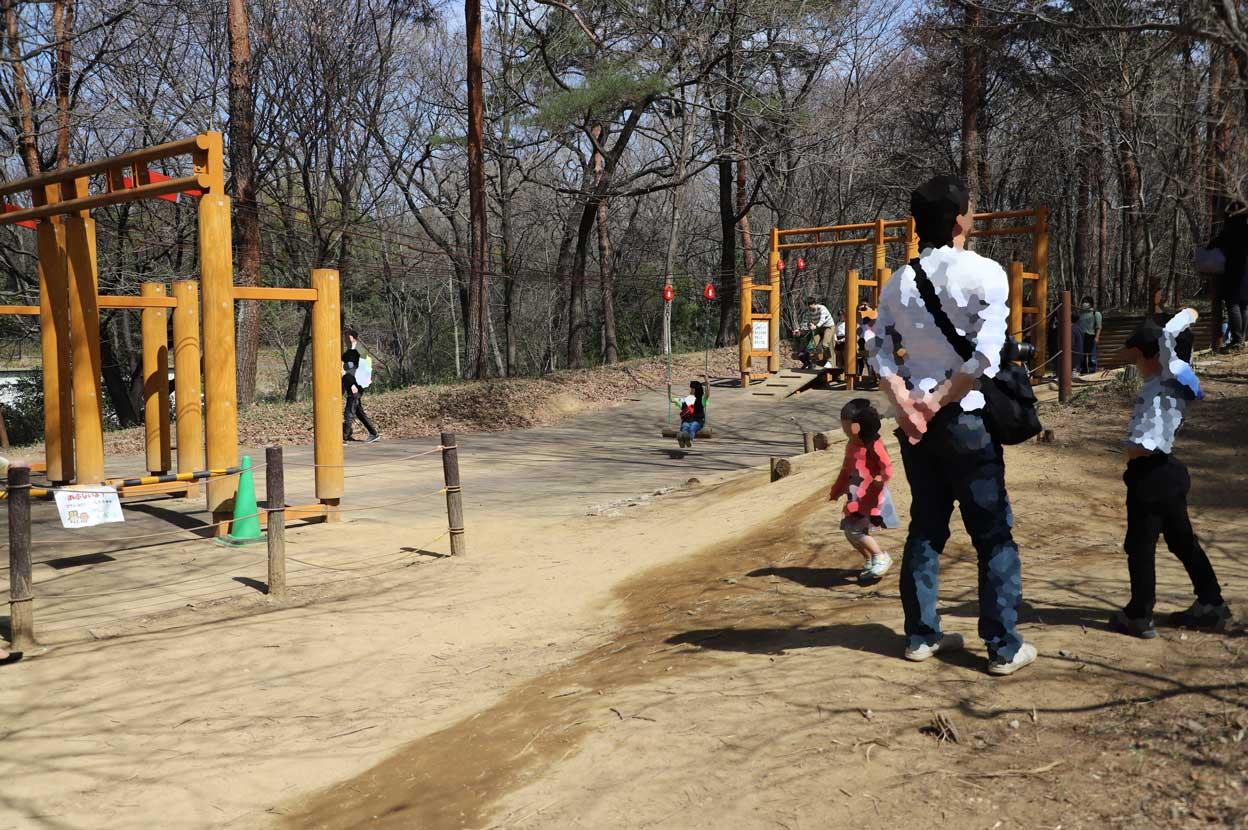 武蔵丘陵森林公園のターザン遊具