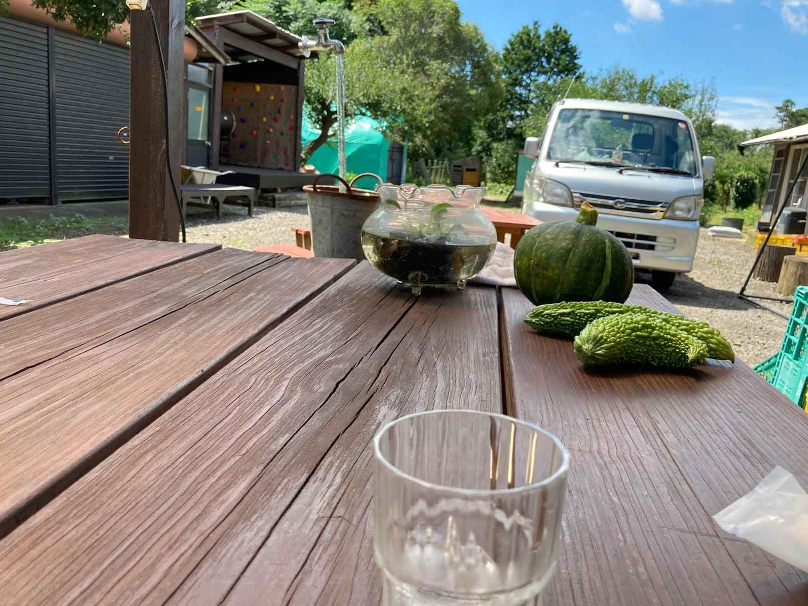 田舎カフェ斎藤ガーデンのテラス席