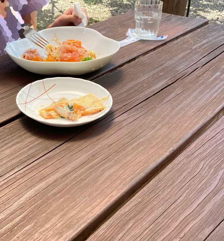 田舎カフェ斎藤ガーデンの冷製パスタ