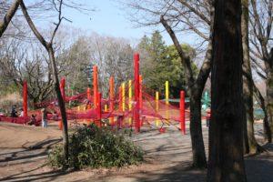 昭和記念公園のネット遊具