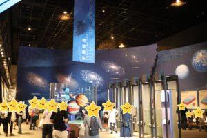 生命の星・地球博物館に展示している地球誕生の展示物