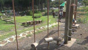 富士山樹空の森にあるアスレチックのような遊具