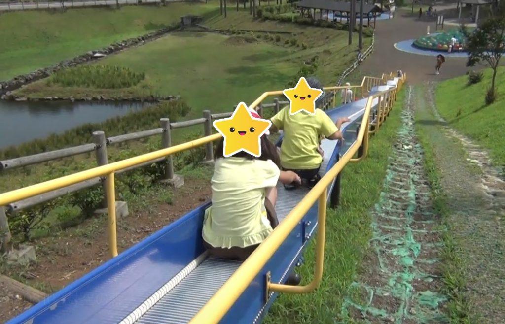 富士山樹空の森にあるすべり台