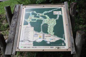 野山北公園のあそびの森アスレチックのマップ