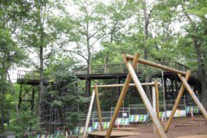 野山北公園の冒険の森にある遊具