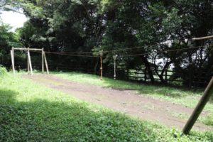 観音崎公園のアスレチックにあるターザン
