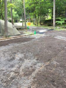 天使の森オートキャンプ場の区画サイト