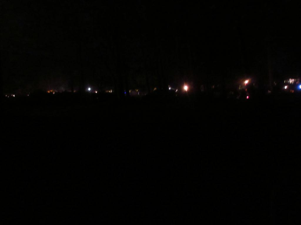 五光牧場オートキャンプ場の夜