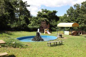 富士すばるランドの水遊びができる広場