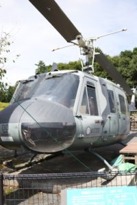 富士樹空の森に展示されている自衛隊のヘリコプター