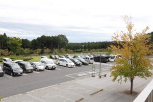 富士樹空の森の駐車場