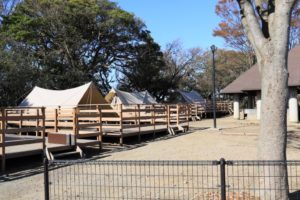 上郷森の家のグランピング(キャンプ)