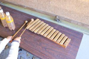 上郷森の家の自然観察センターに展示している楽器