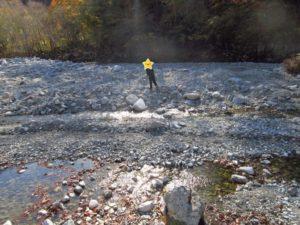 西丹沢大滝キャンプ場での川遊び