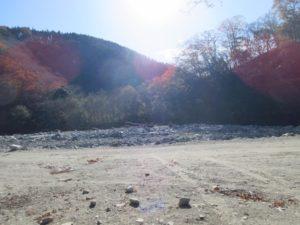 西丹沢大滝キャンプ場のフリーサイトから見られる景色