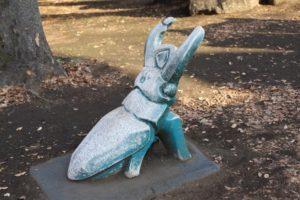 相模原公園にあるクワガタの像