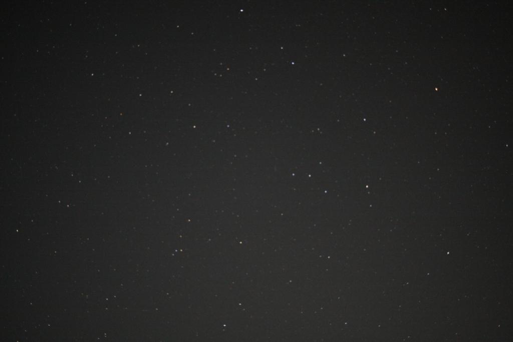西丹沢大滝キャンプ場から見える星空