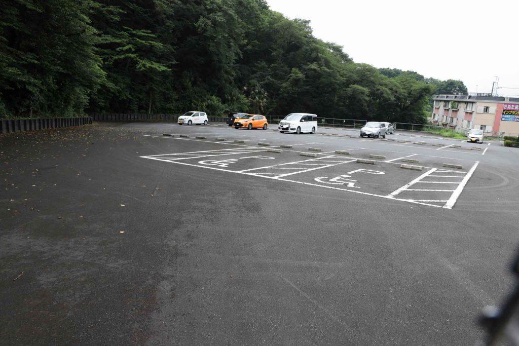 相模原公園の西駐車場(無料)