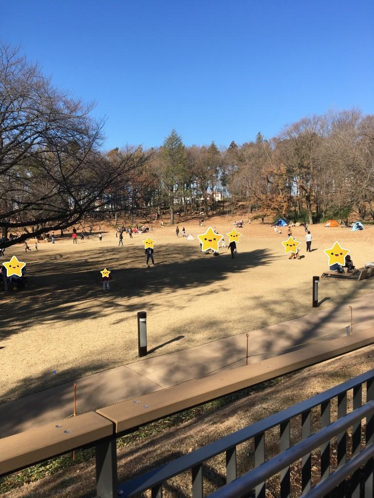 鶴間公園の芝生広場