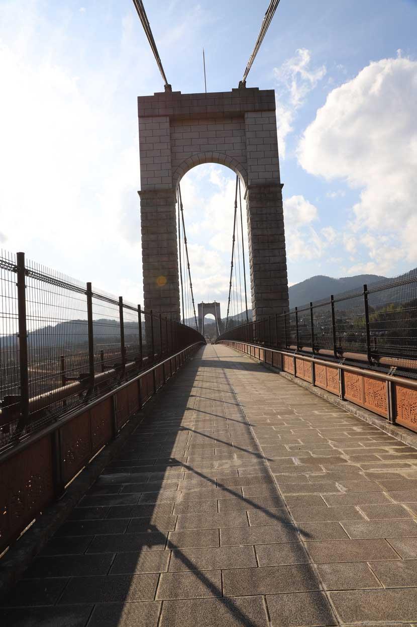 県立秦野戸川公園の風の吊り橋