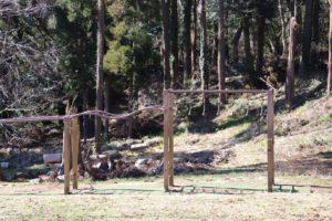 昭和の森のアスレチックにあるうんてい