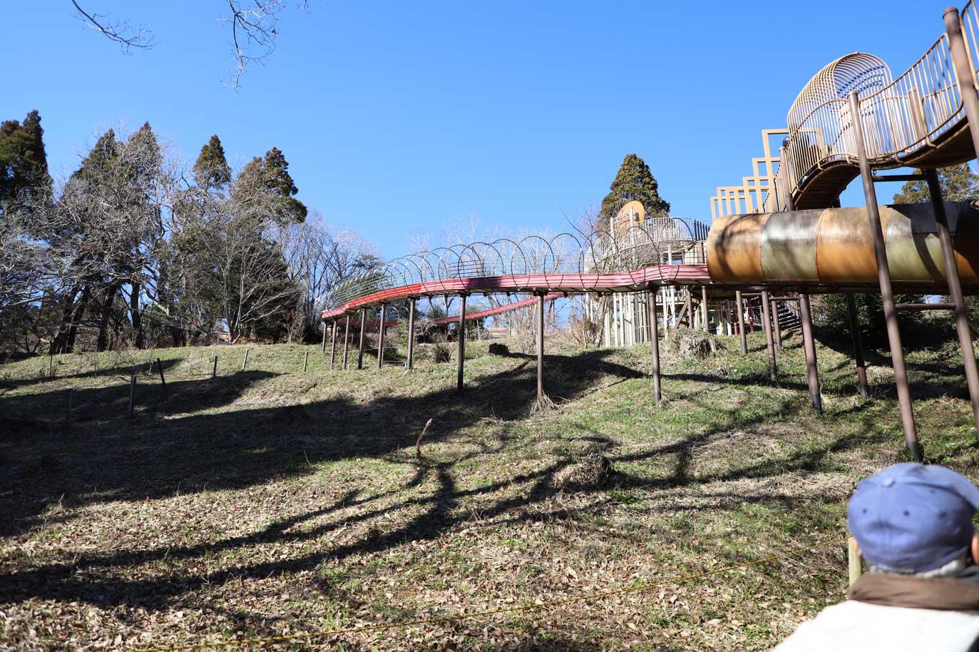 昭和の森の長いすべり台