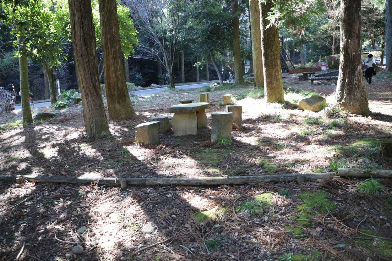幕山公園のお弁当を食べる場所