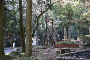 幕山公園のアスレチックにあるターザン