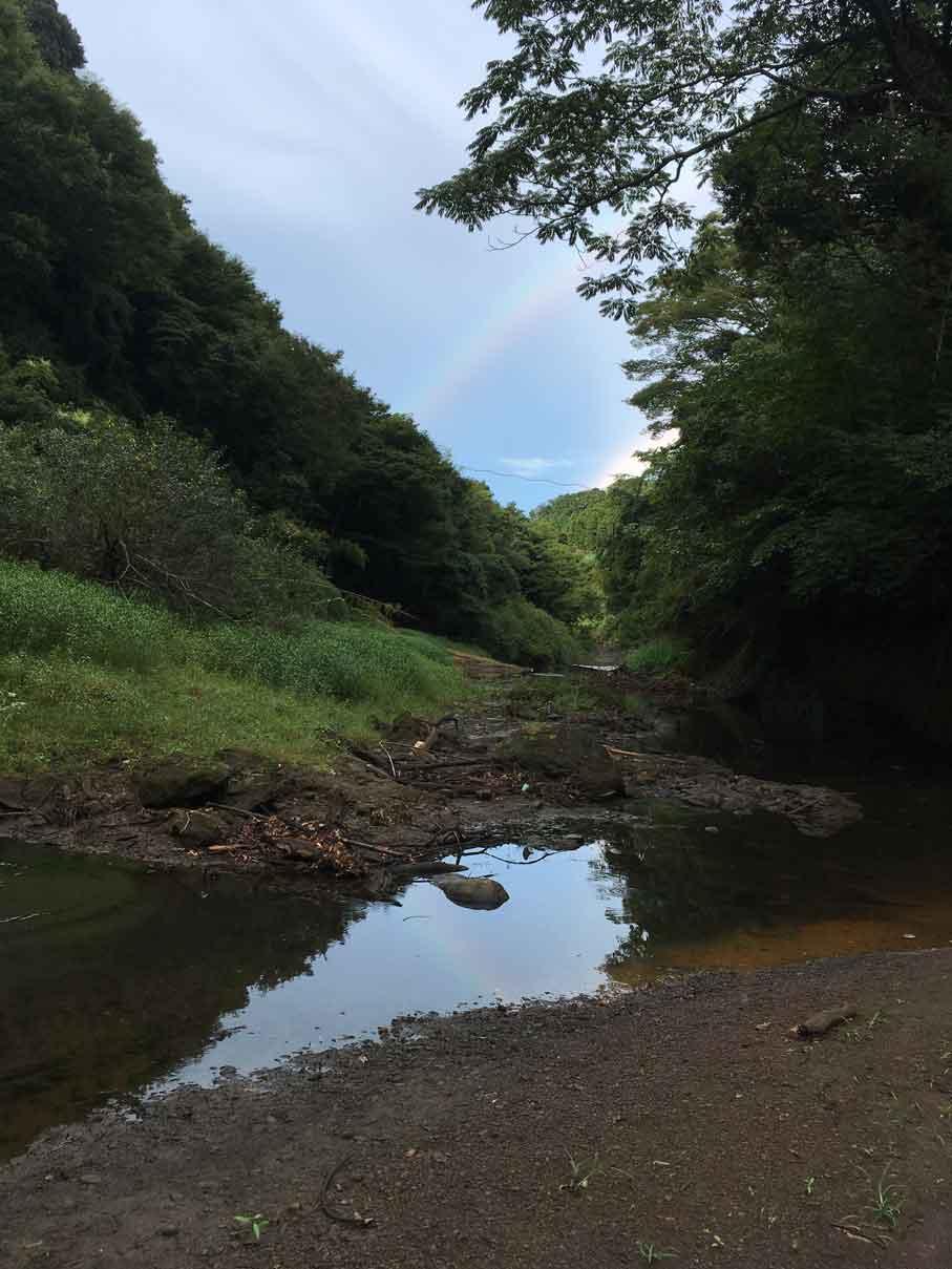 オートキャンプ フルーツ村での虹
