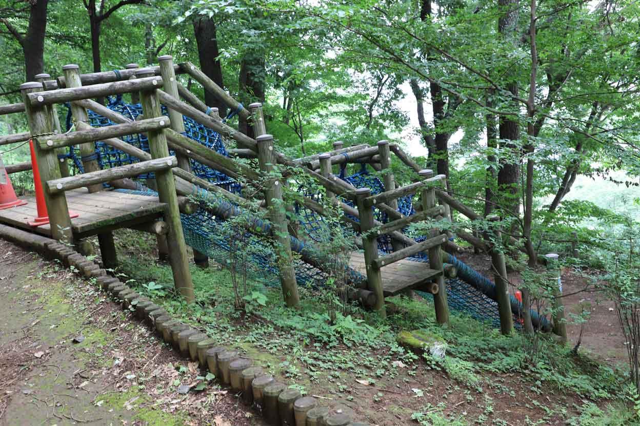 七沢森林公園のアスレチック