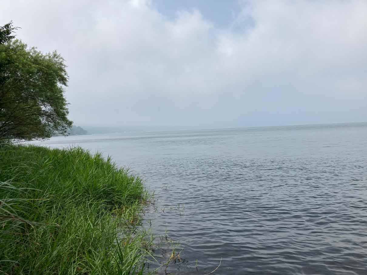 レイクロッジヤマナカから見える山中湖