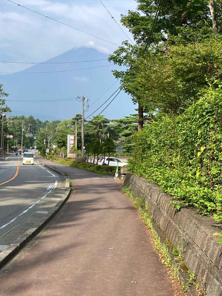 レイクロッジヤマナカから見える富士山