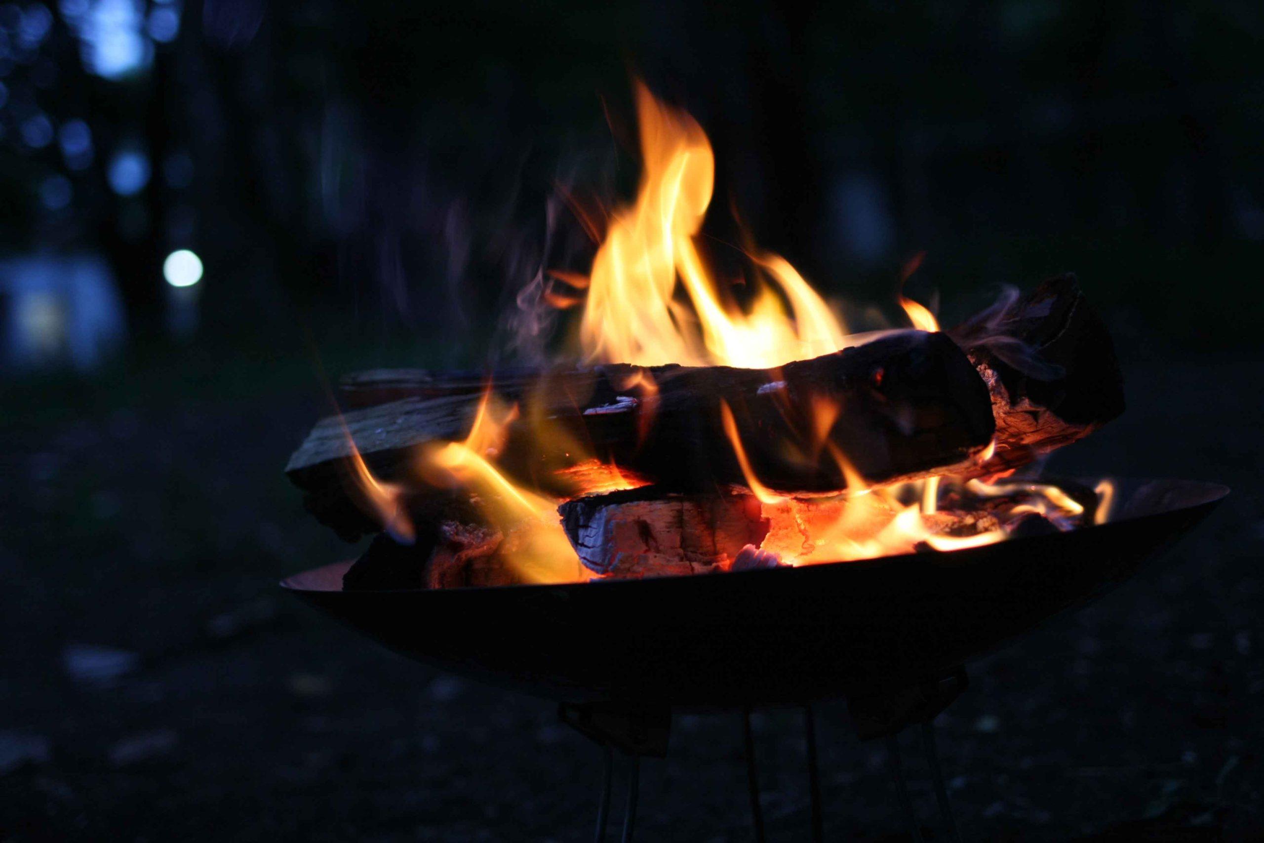 レイクロッジヤマナカでの焚火
