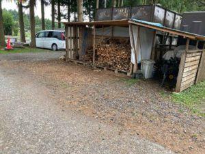 富士山ワイルドアドベンチャーの薪売り場
