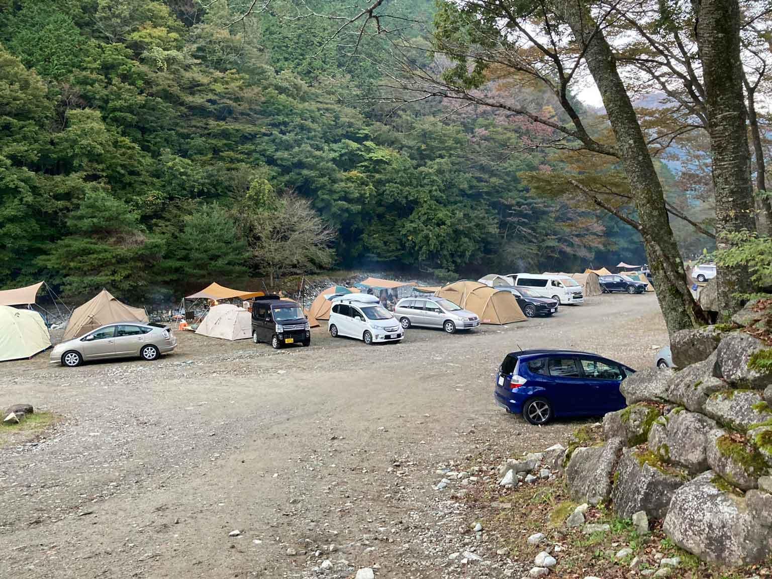 ウェルキャンプ西丹沢キャンプ場の区画サイト