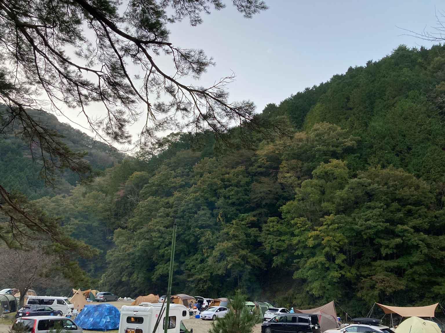ウェルキャンプ西丹沢キャンプ場のサイト